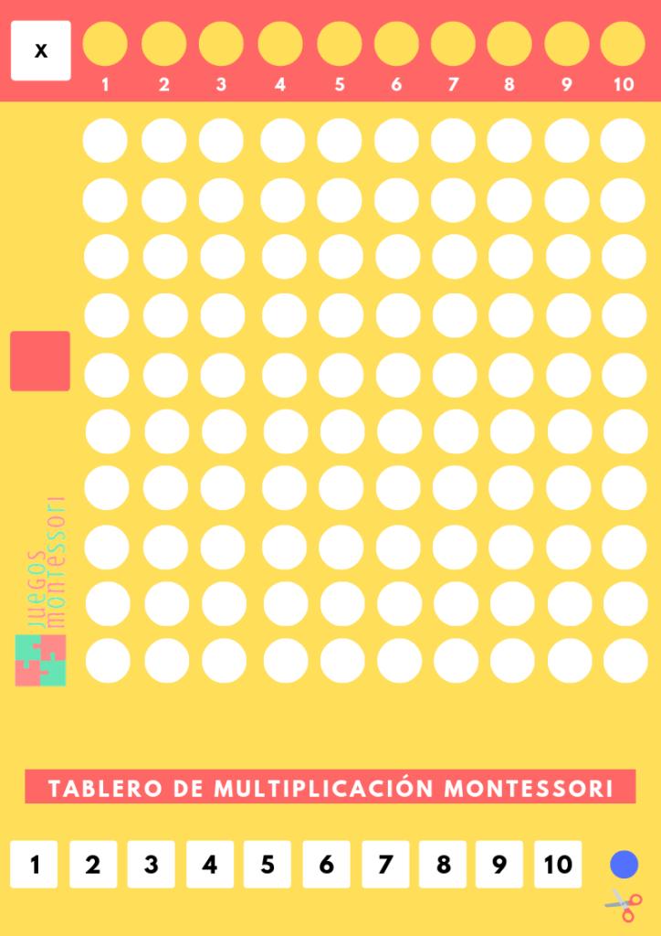 Tabla de Multiplicar Montessori casera