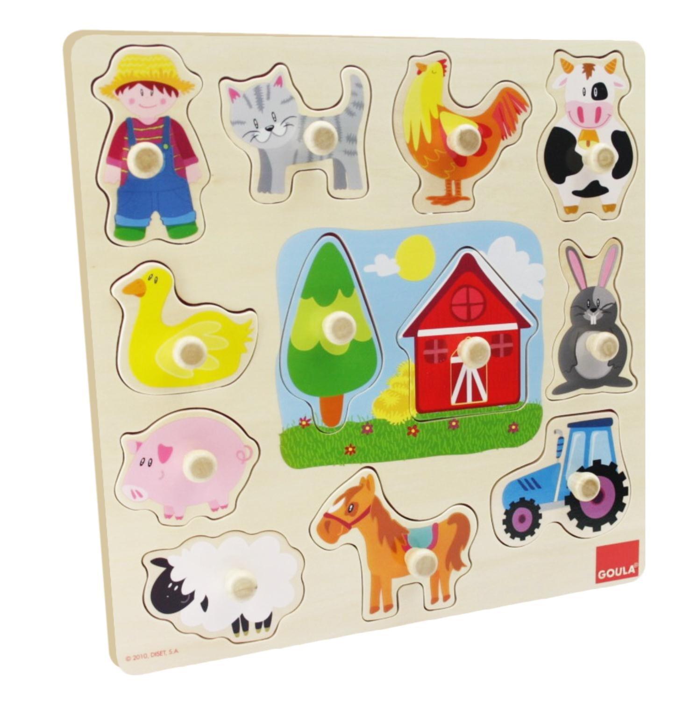 puzzle montessori granja 4