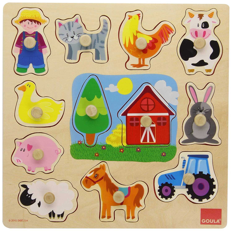 puzzle montessori granja