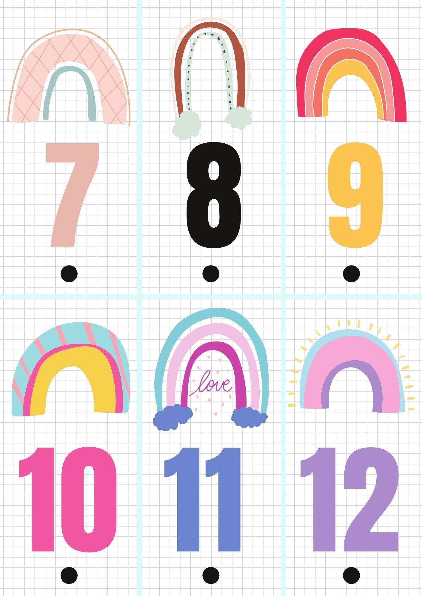 Calendario de adviento para imprimir 2
