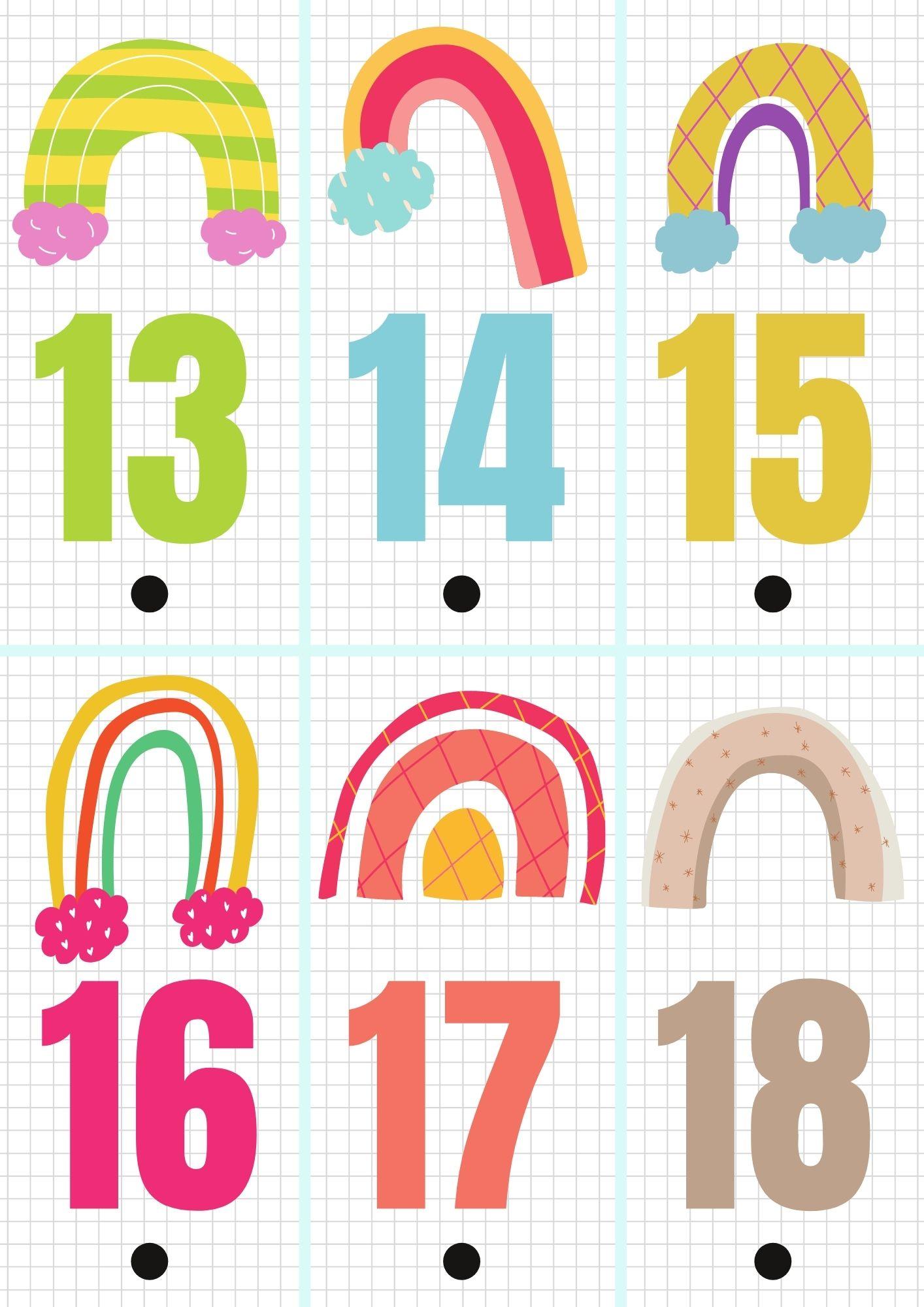 Calendario de adviento para imprimir 3