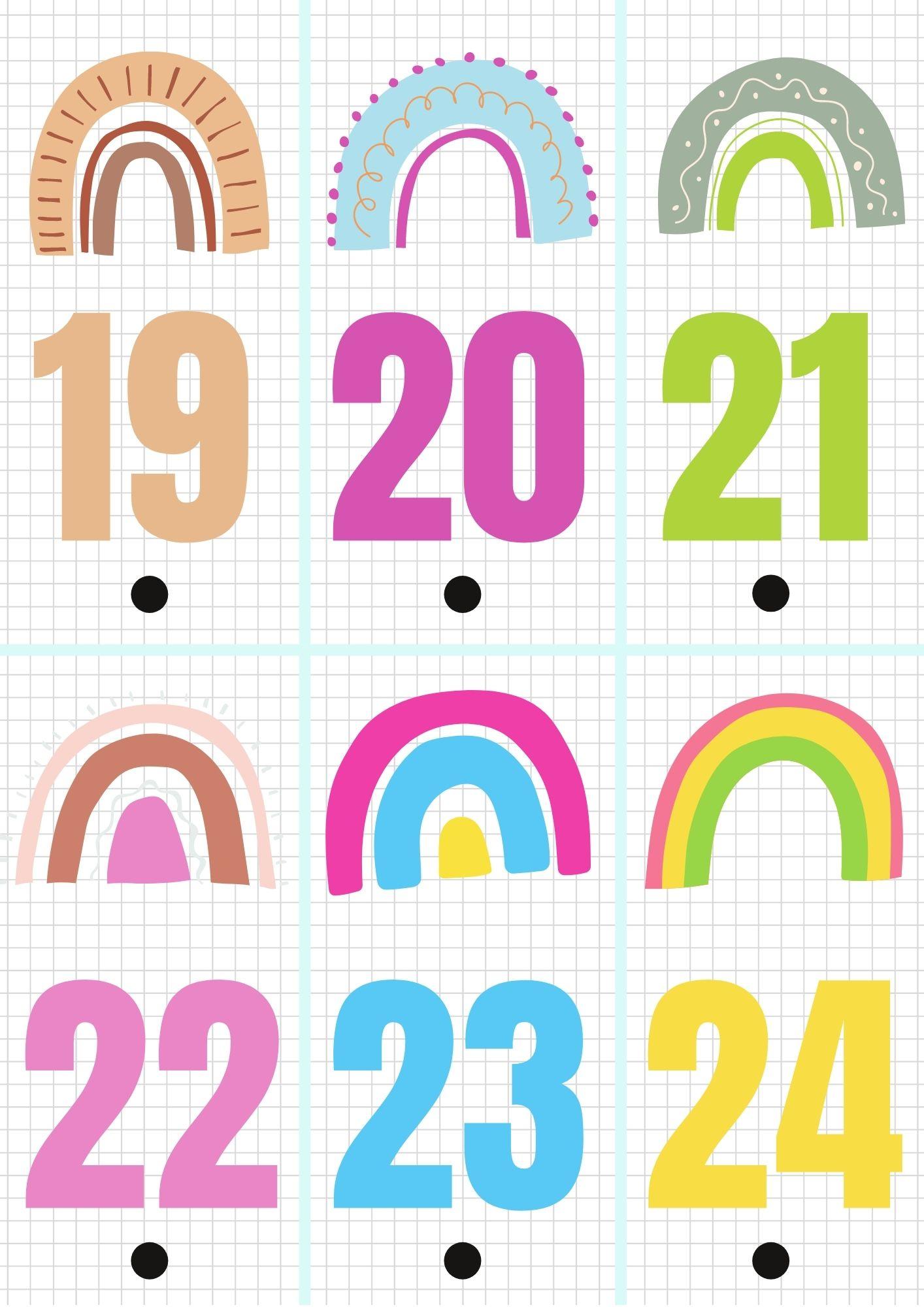 Calendario de adviento para imprimir 4