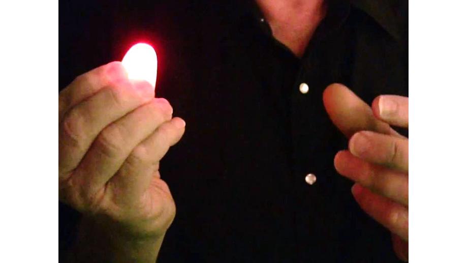 Luz mágica para dedos