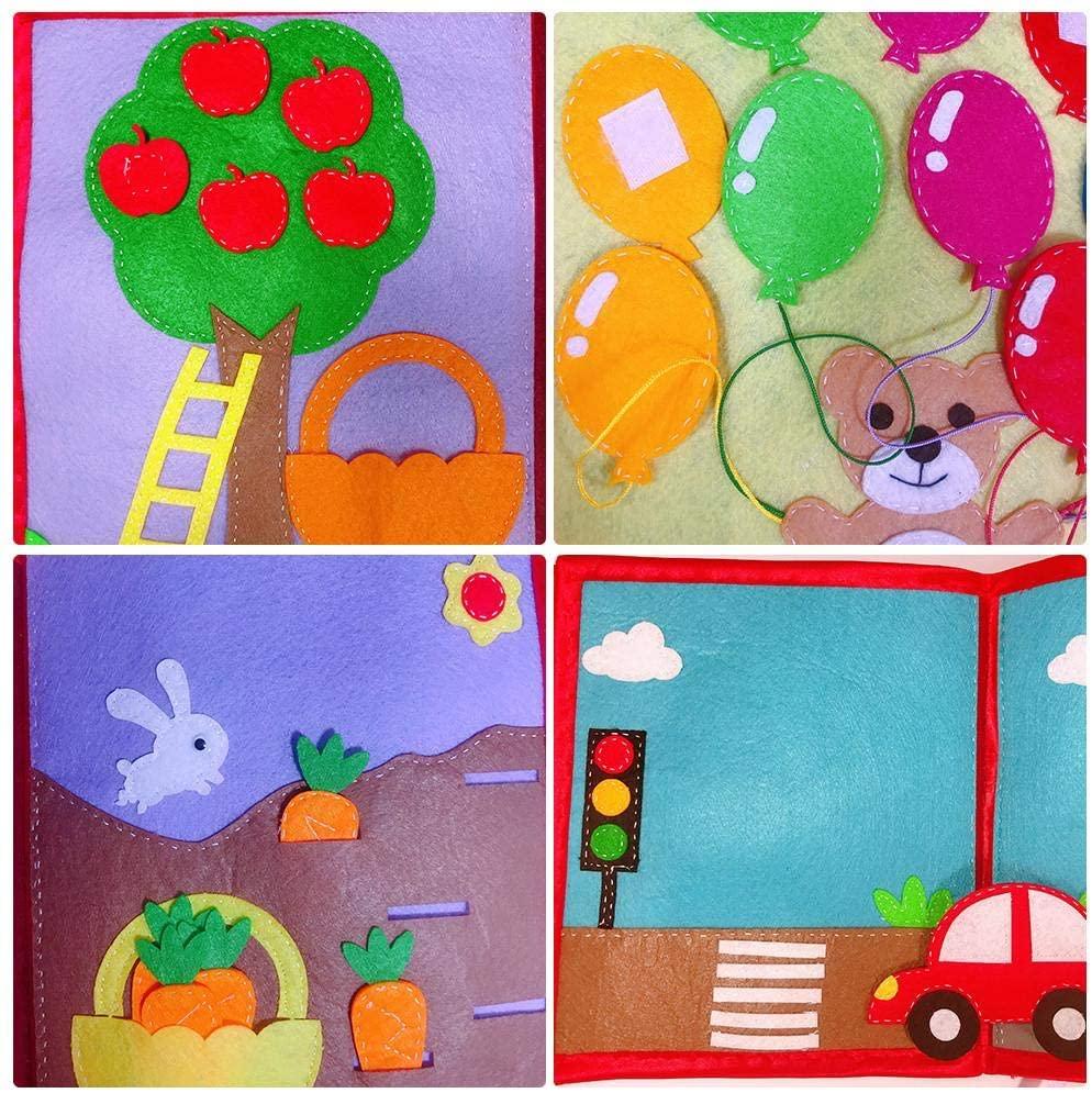 Libro de tela sensorial para bebés