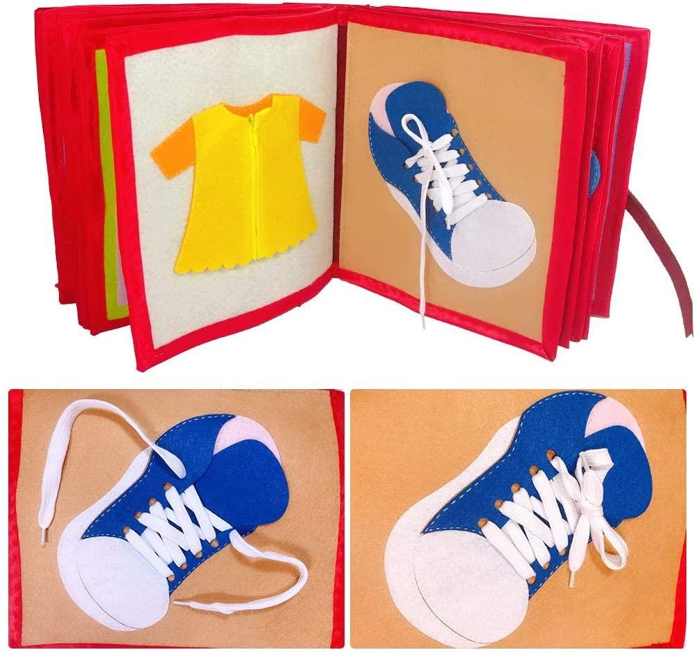 Libro de tela sensorial para bebés-3