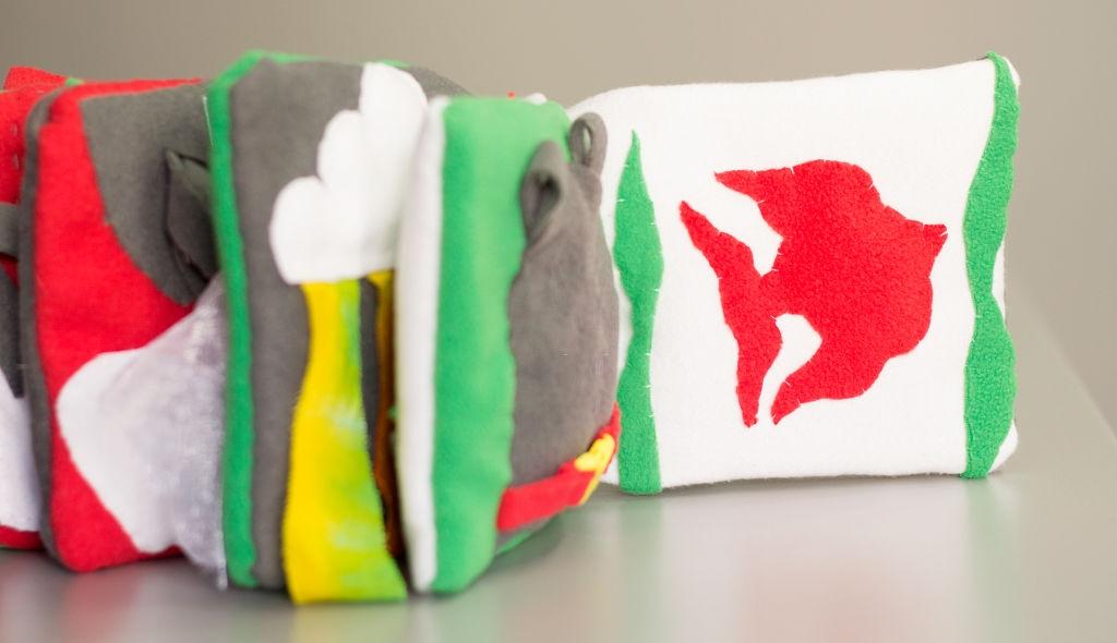 Libros de tela sensoriales para bebés
