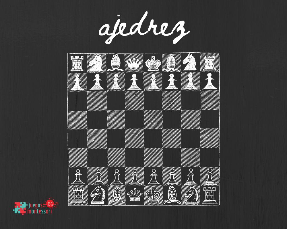 ajedrez en pizarra