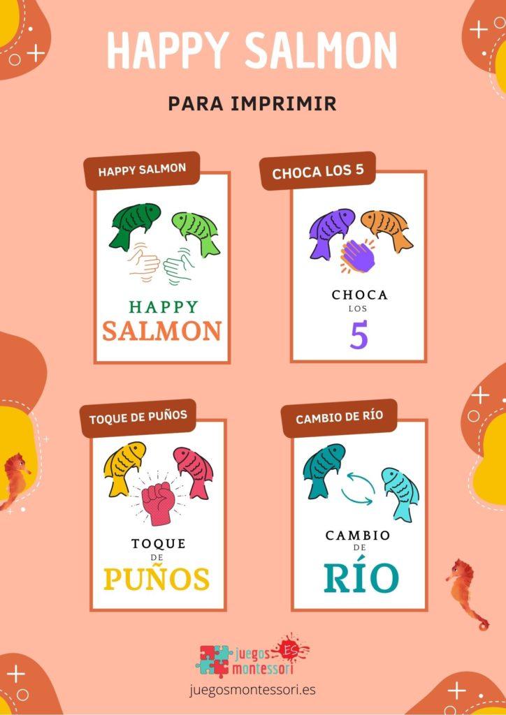 Happy salmon para imprimir