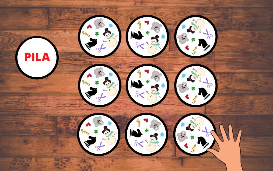 Ejemplo de juego Triplete Dobble
