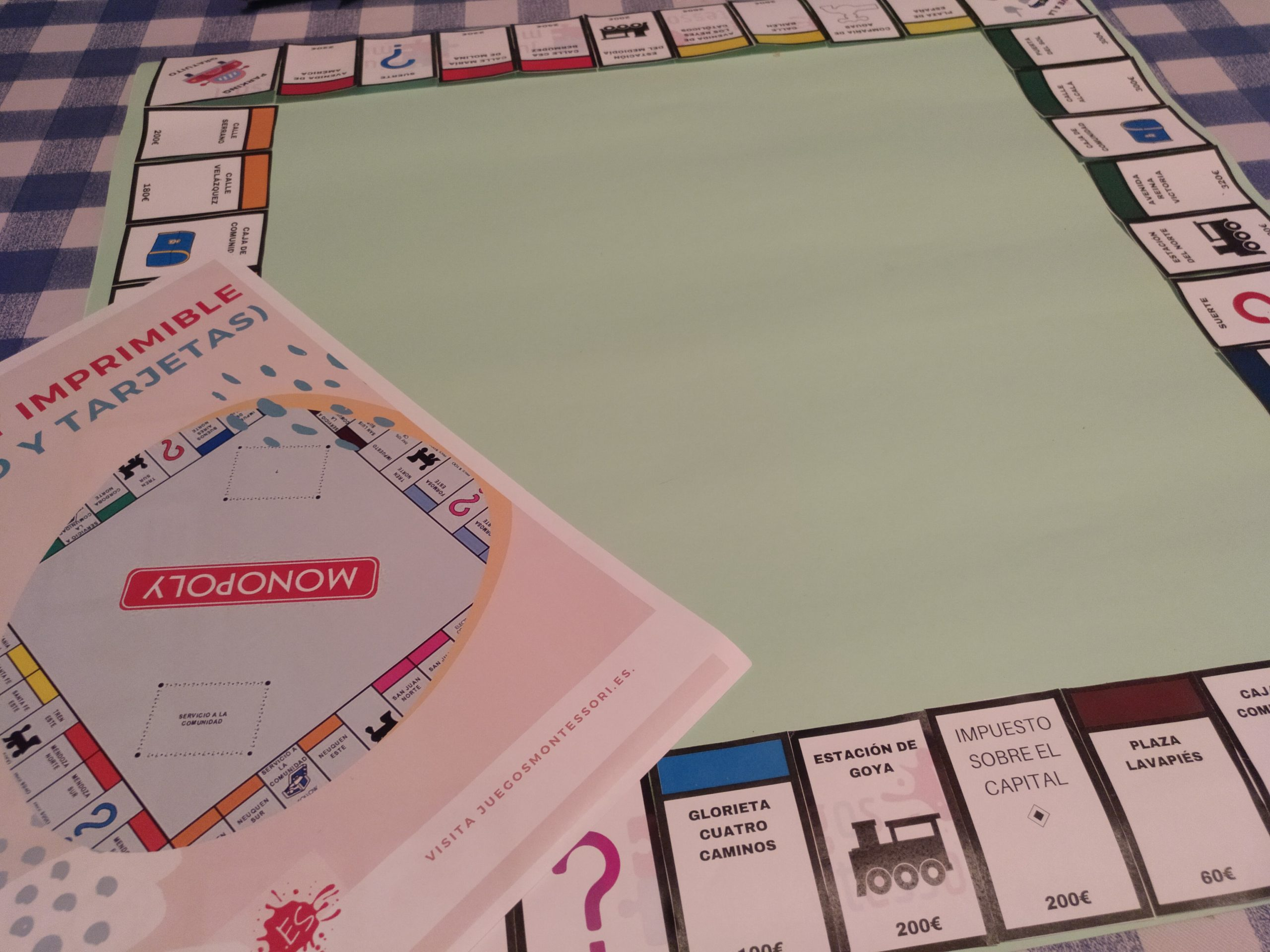 Tablero Monopoly Imprimible