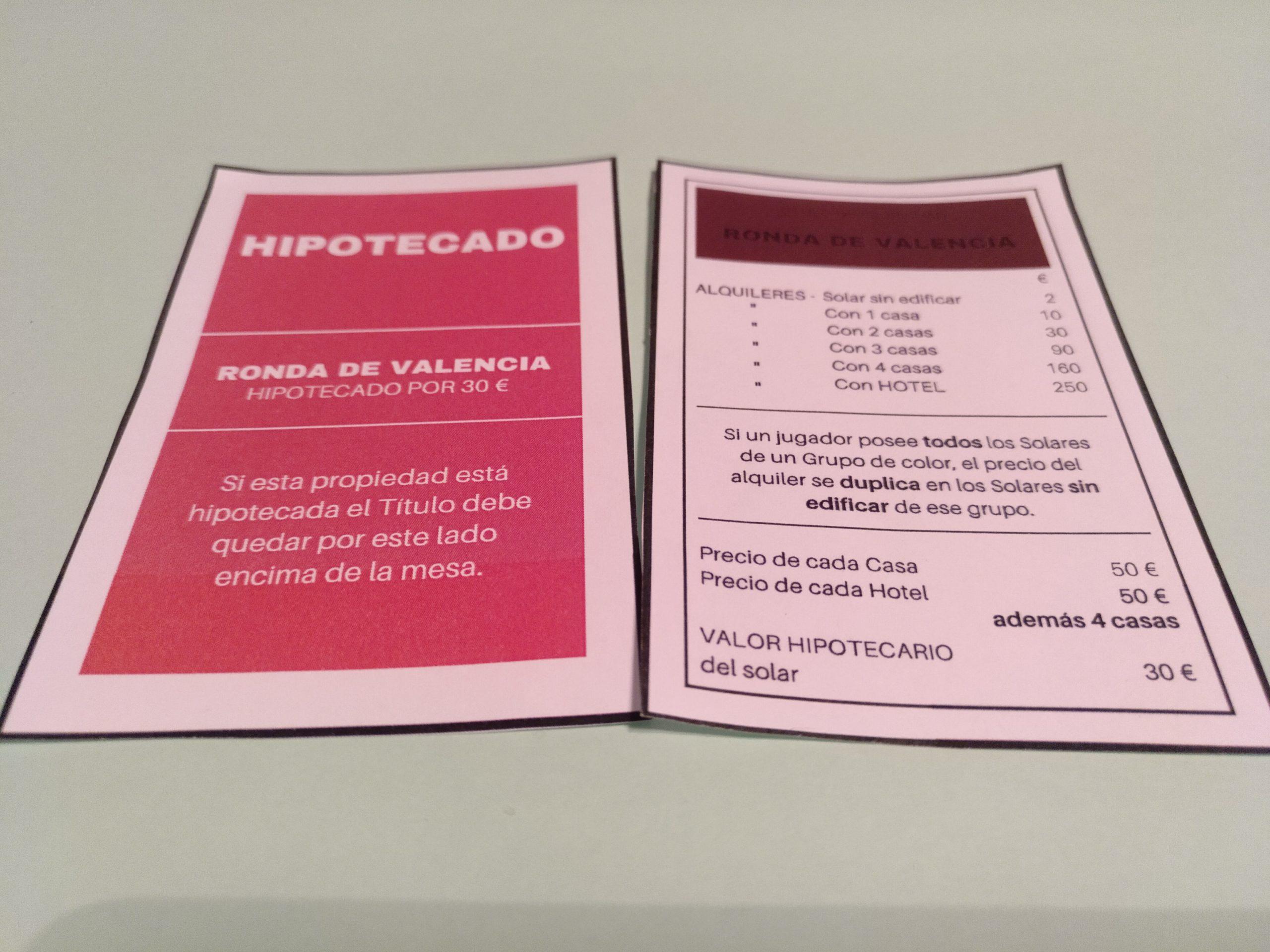 Tarjeta imprimible monopoly paso 1