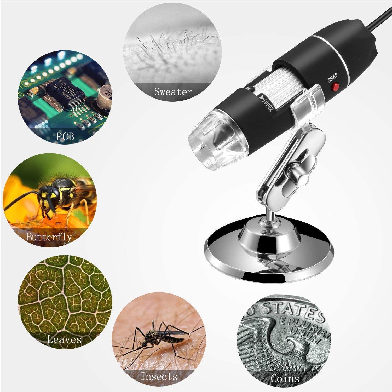 Microscopio Jiusion USB con CÁMARA  de 1000x aumentos