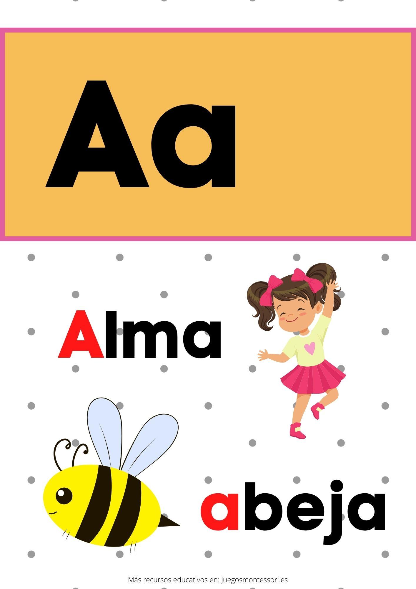 A abecedario letras separadas y grandes