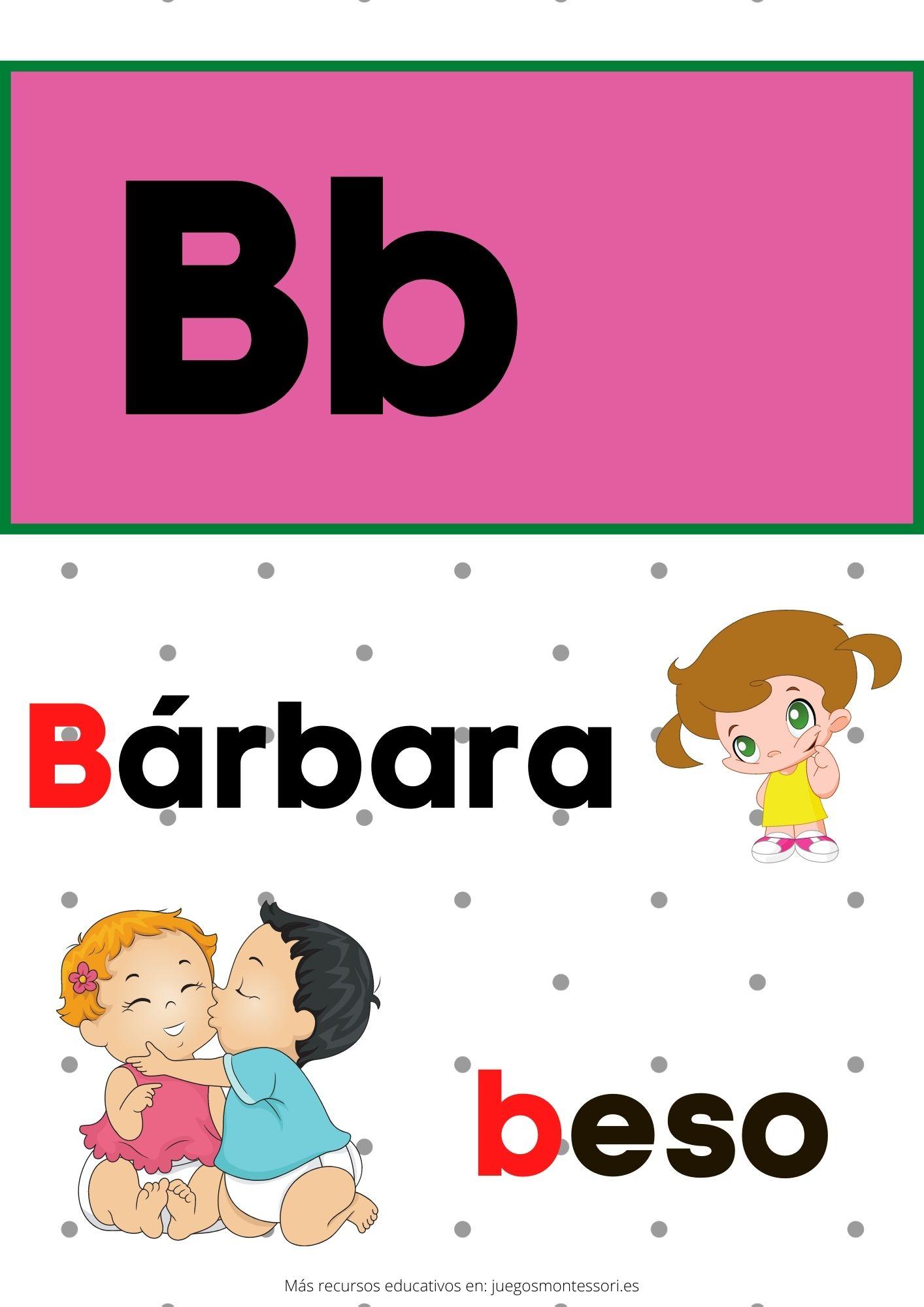 B abecedario letras separadas y grandes