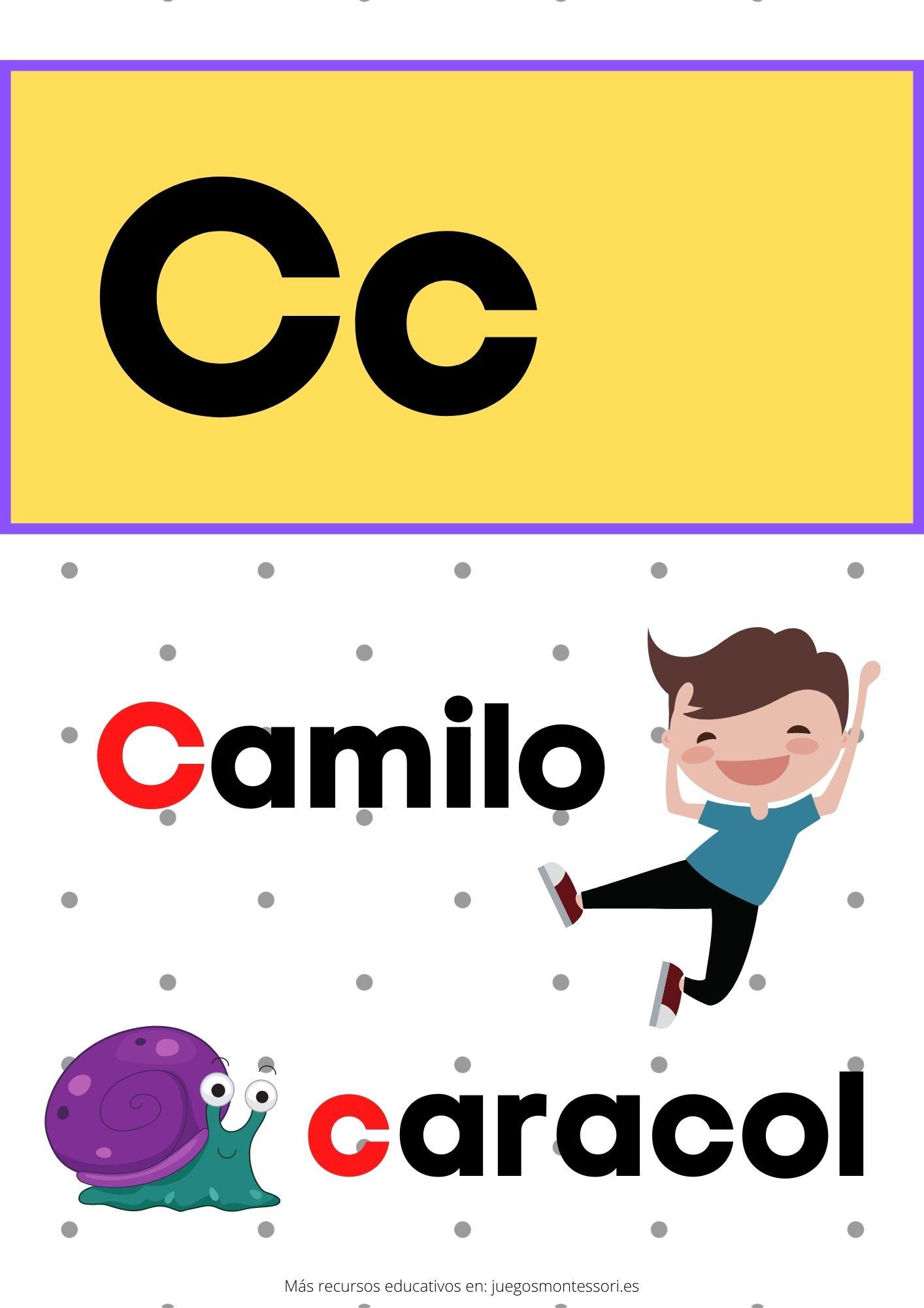C abecedario letras separadas y grandes
