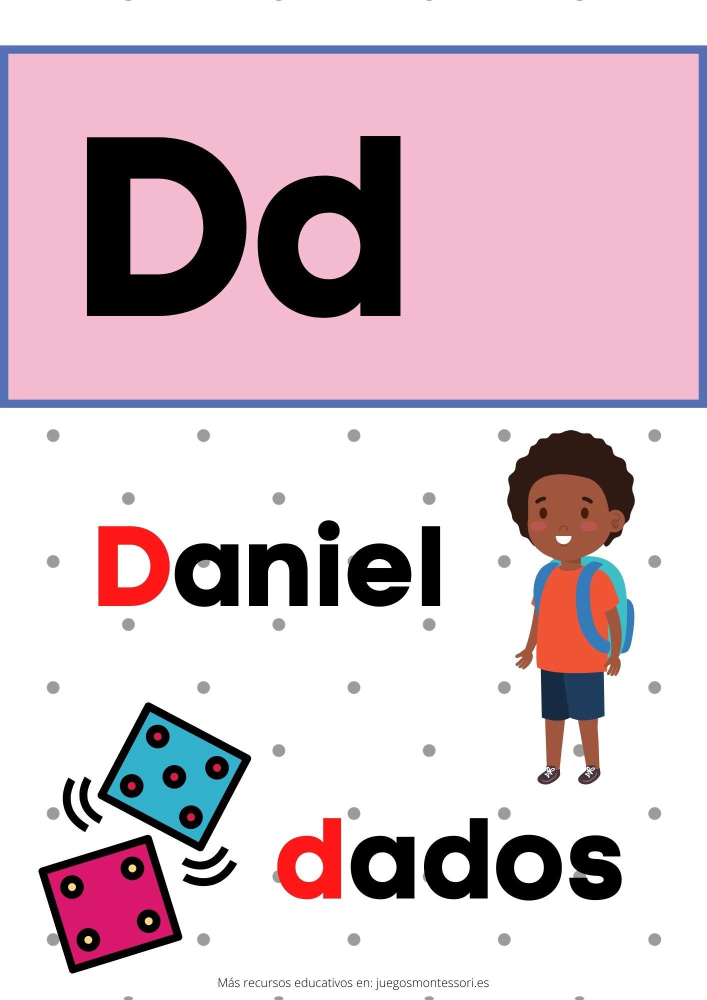 D abecedario letras separadas y grandes