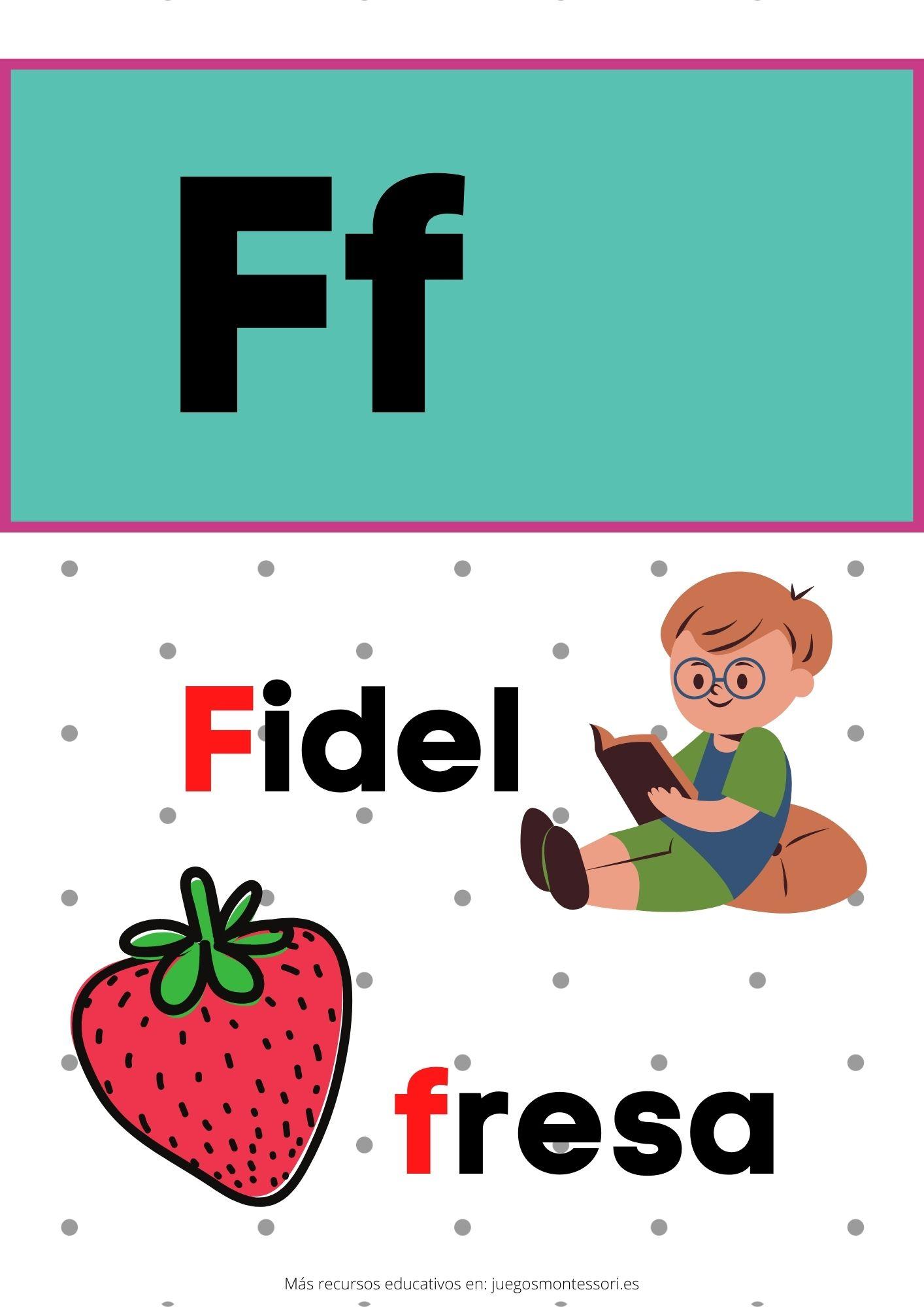F abecedario letras separadas y grandes