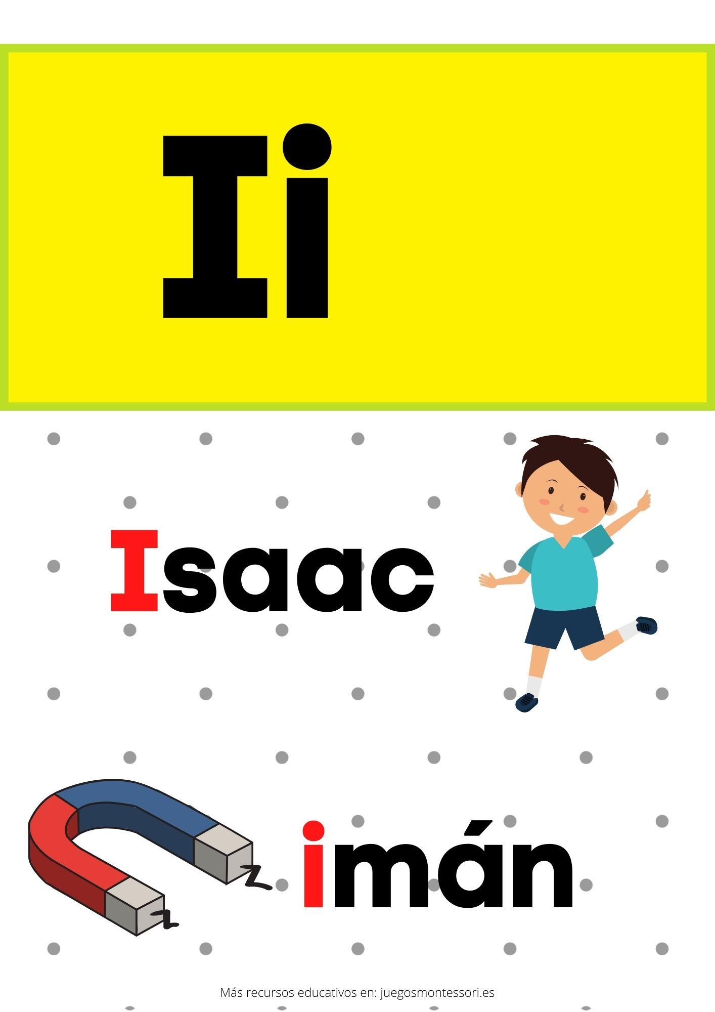 I abecedario letras separadas y grandes