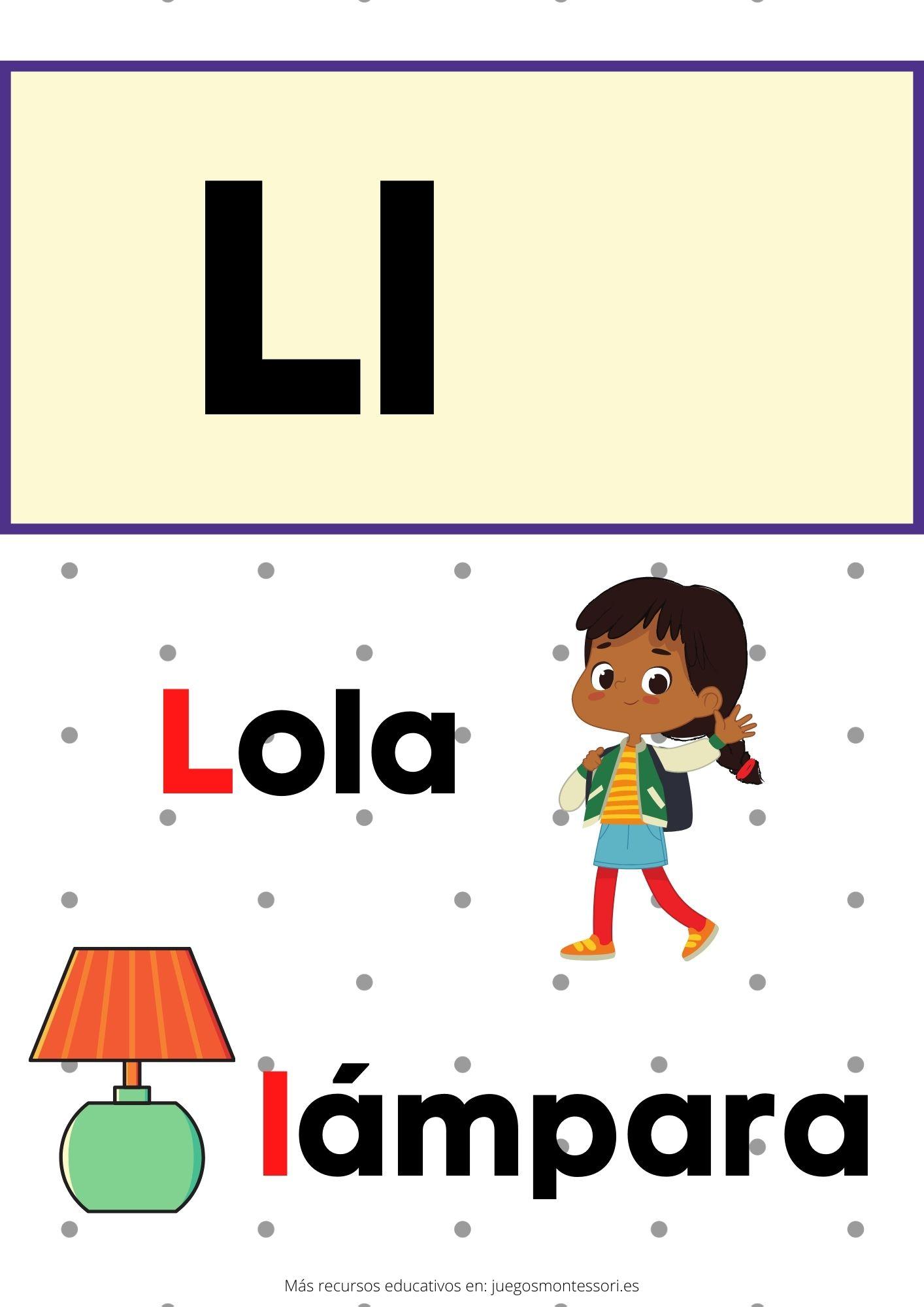 L abecedario letras separadas y grandes