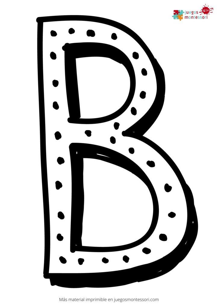 Letra b grande para colorear