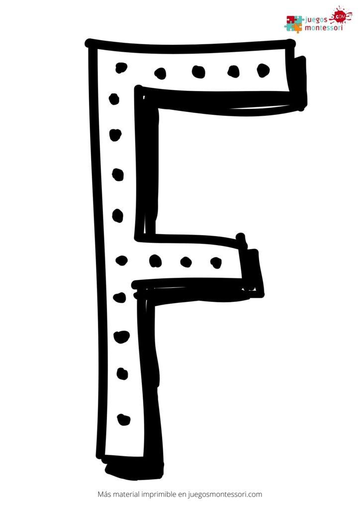 Letra f grande para colorear