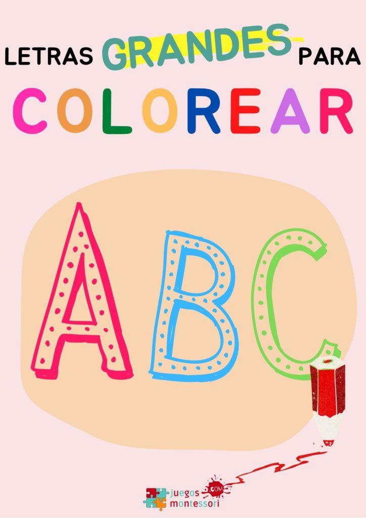 Letras grandes para imprimir y colorear