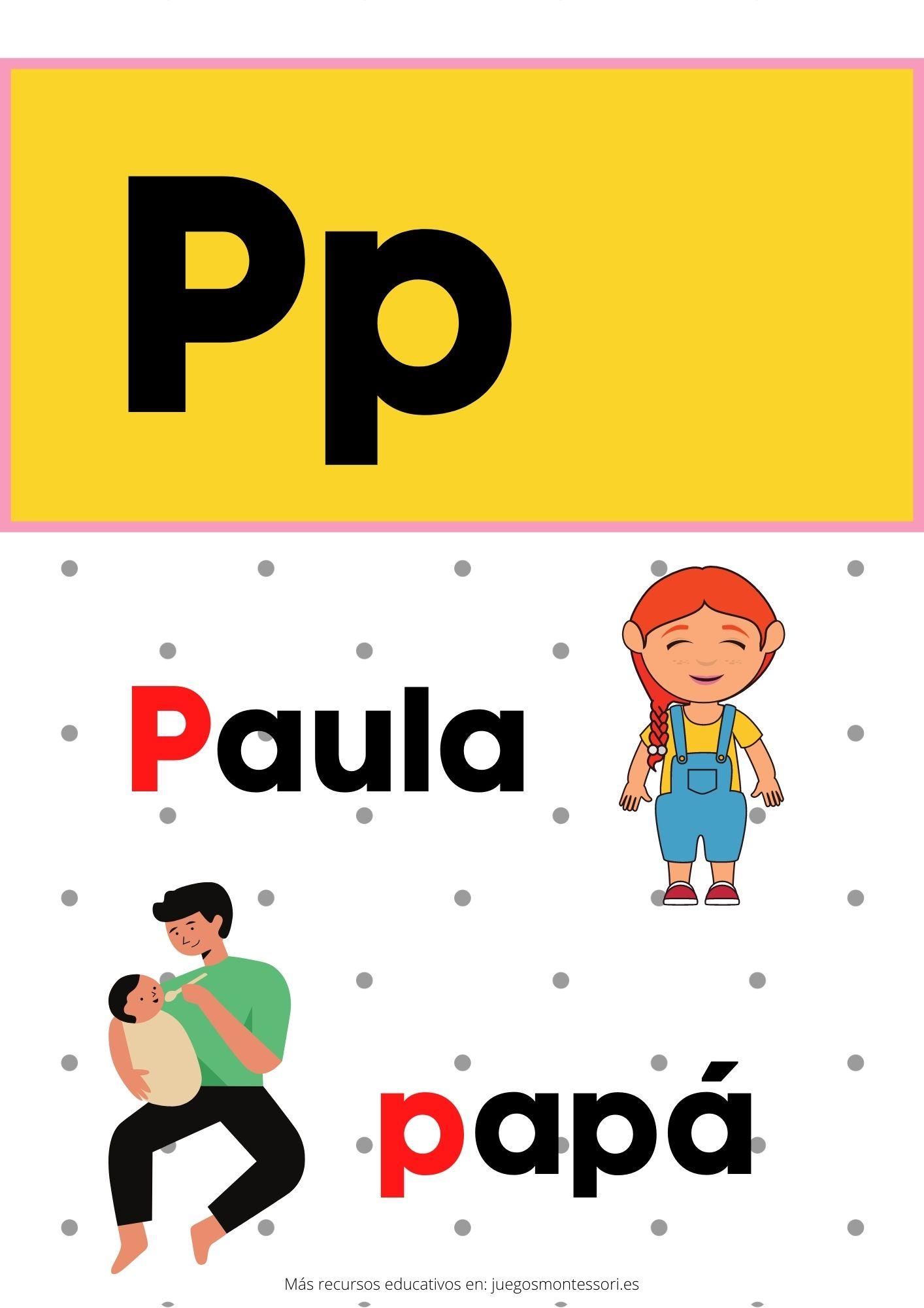 P abecedario letras separadas y grandes