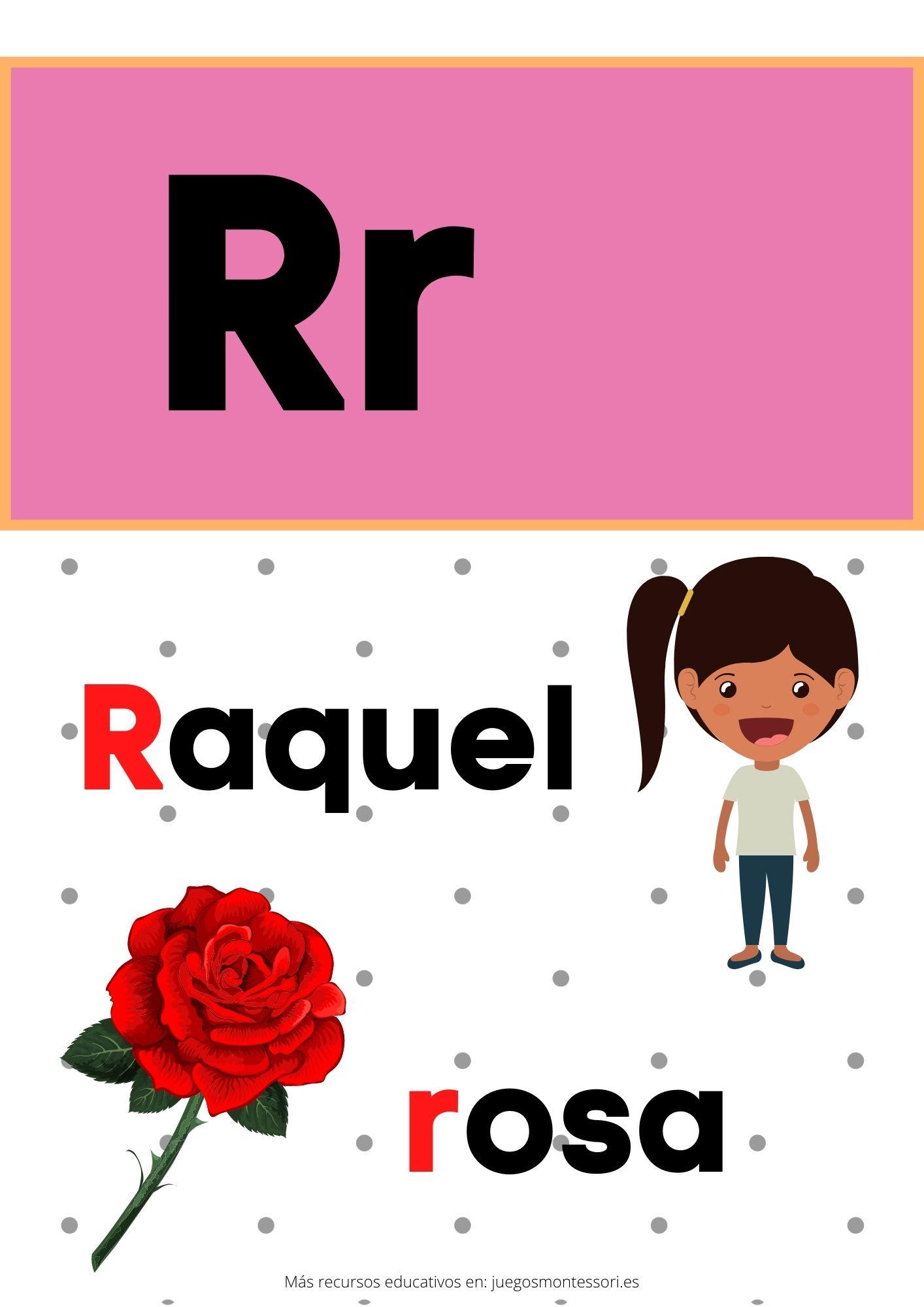 R abecedario letras separadas y grandes