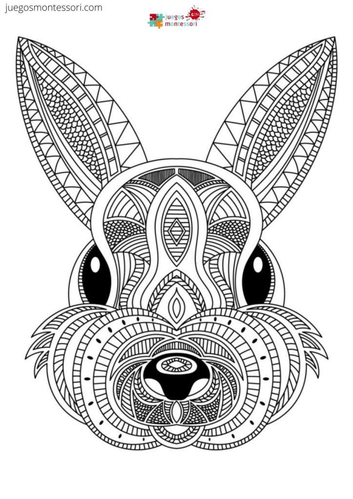 Mandala de conejo