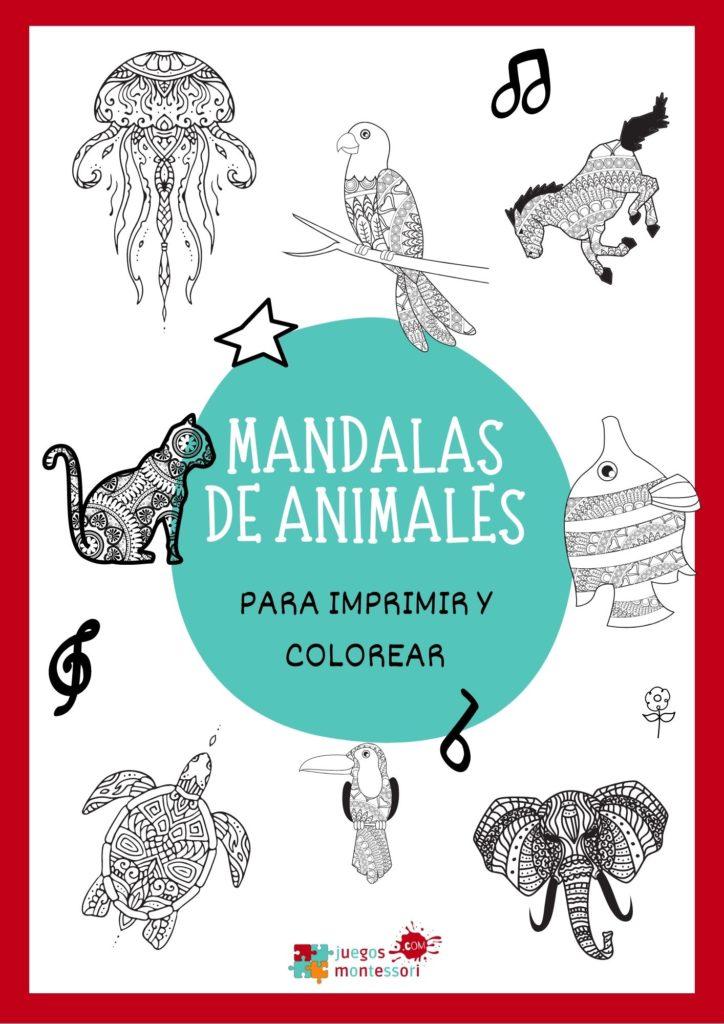Mandalas de animales para imprimir y colorear