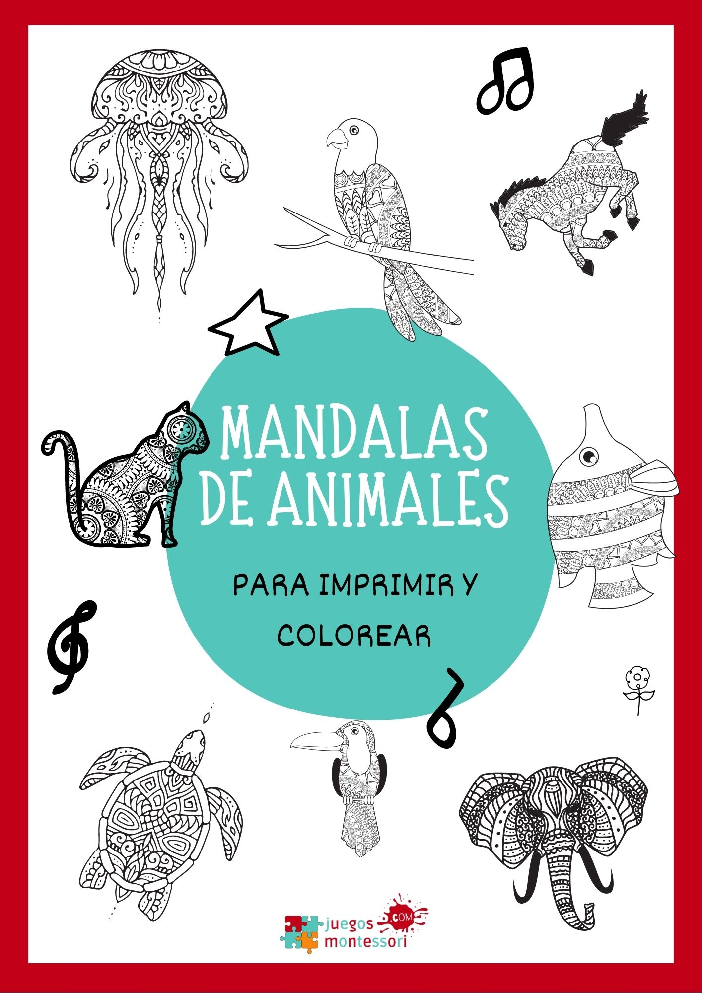 Mandalas de Animales | Para imprimir y colorear en PDF