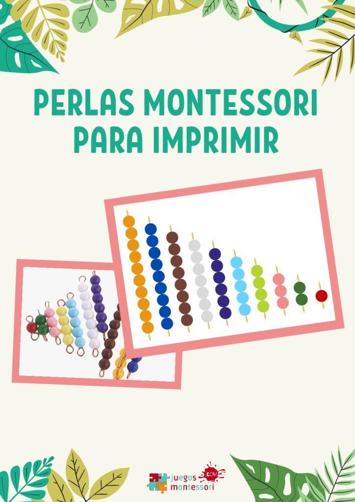 Perlas Montessori y Sistema Decimal Montessori para imprimir