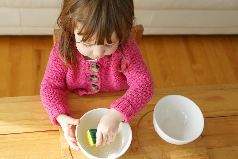 Actividad montessori niños de dos años