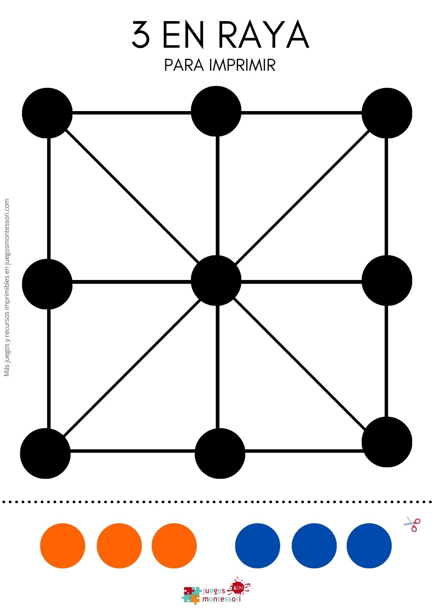 Tablero 3 en RAYA para Imprimir en PDF