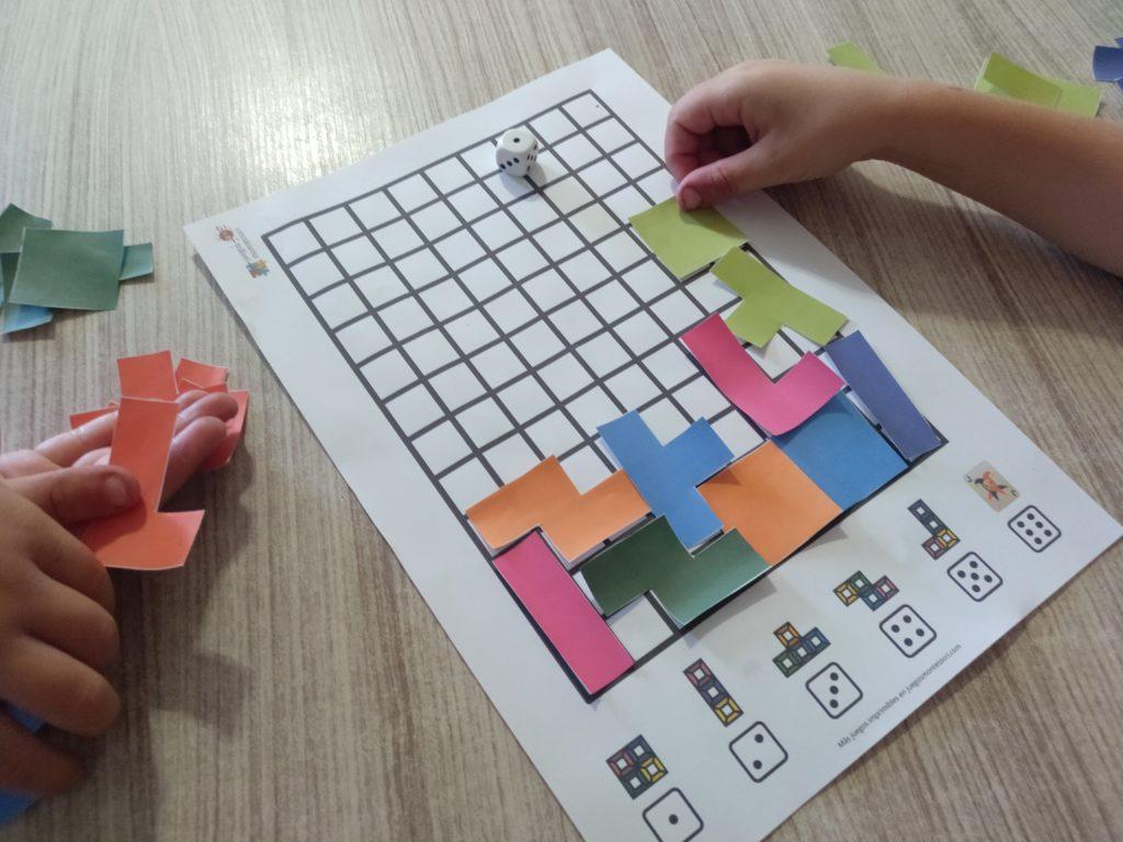 Jugando al Tetris para Imprimir