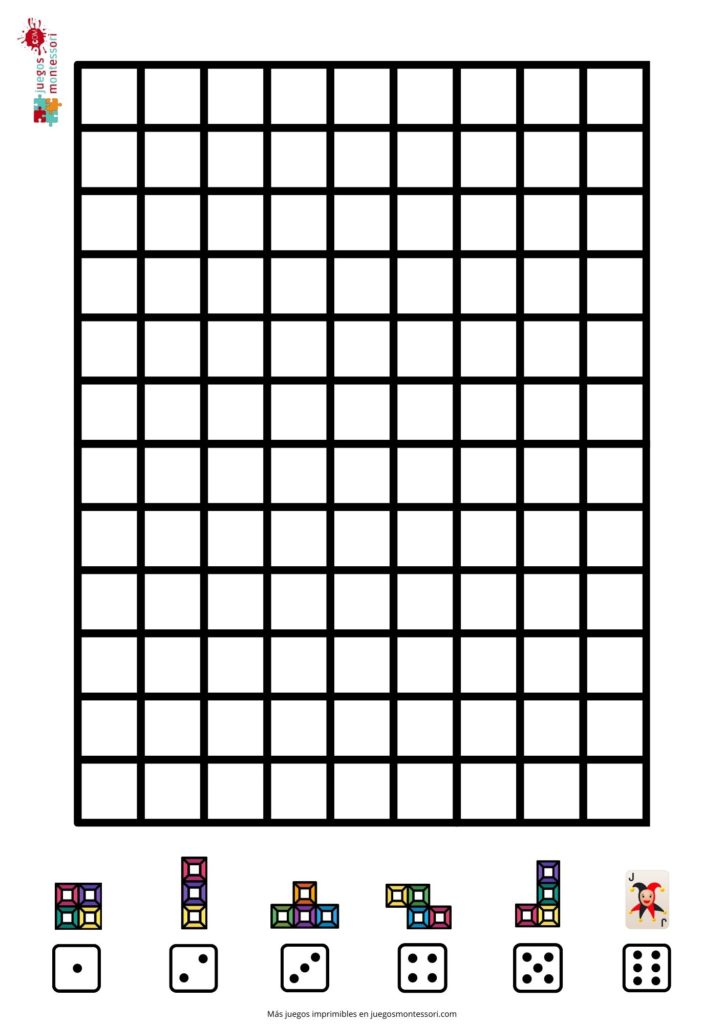 Tablero Tetris para Imprimir