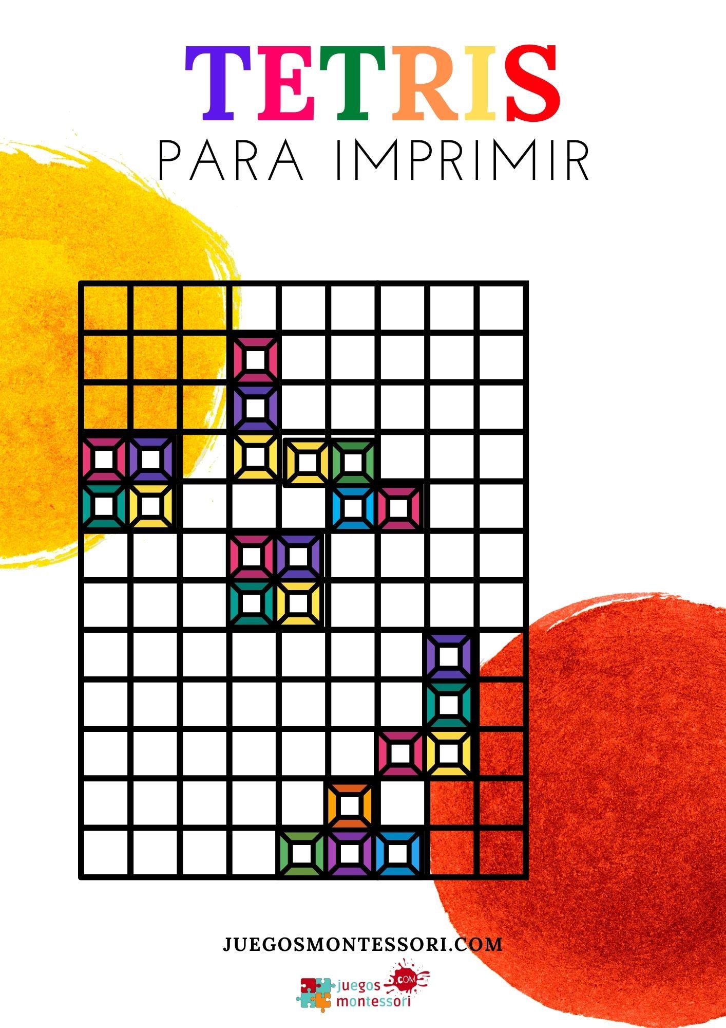 Tetris para Imprimir 🇱 | Tablero + Fichas en PDF